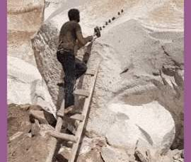 This is how they used to break stone before machinery