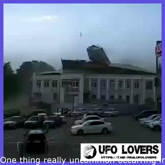 Something very unusual happening in the sky over Saratov