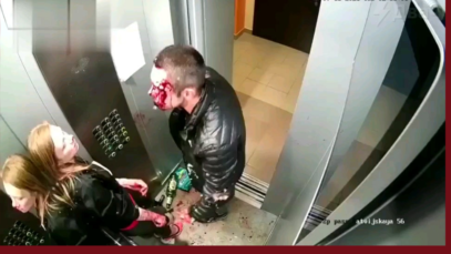 """The usual """"love story"""" from Yekaterinburg - a couple made a bloody mess in the elevator because of everyday life. In the end, all of a sudden, they cleaned the elevator from their blood. Nobody filed a complaint with the police. We don't fucking need him, your domestic violence law"""