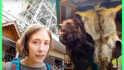 Where else you can buy a bear on a flea market if not in Russia😄