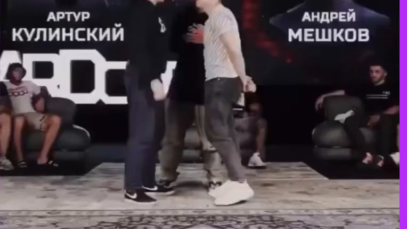 Normal Russian pre fight face offs