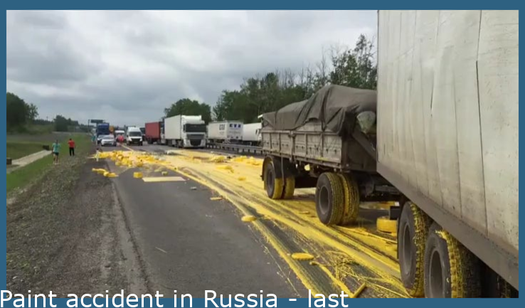 Paint accident in Russia