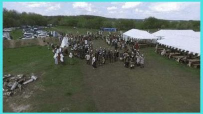 Flying a drone over a Russian renaissance fair...It doesn't end well