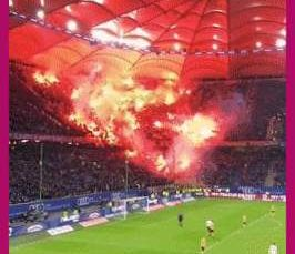 Ultras are a type of football association with fans who are renowned for their fanatical support. They commonly use flares, chanting and large banners to simultaneously support their team and intimidates their rivals. This is a recent Borussia Dortmund match