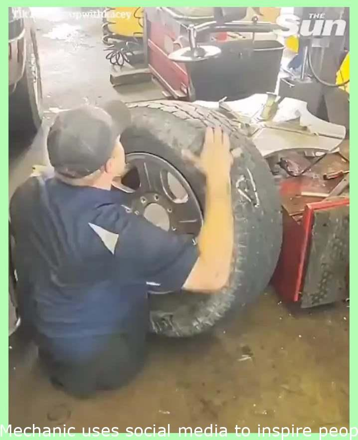Mechanic uses social media to inspire people as he overcomes his disability..