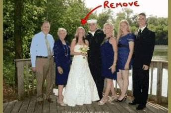 How to remove an ex from your family picture using Photoshop