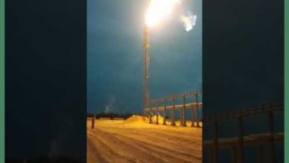 LUKOIL, ignition of associated petroleum gas torch.